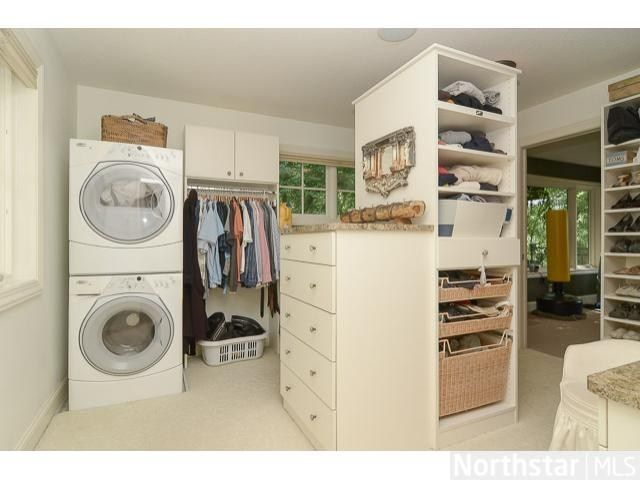 Washer And Dryer In The Closet Bedroom Closet Design Laundry Closet Closet Bedroom