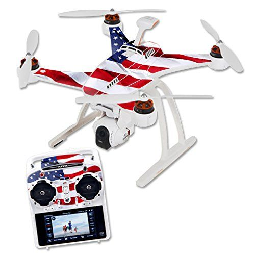 Mightyskins protective vinyl skin decal for blade chroma quadcopter drone wrap cover sticker skins american flag