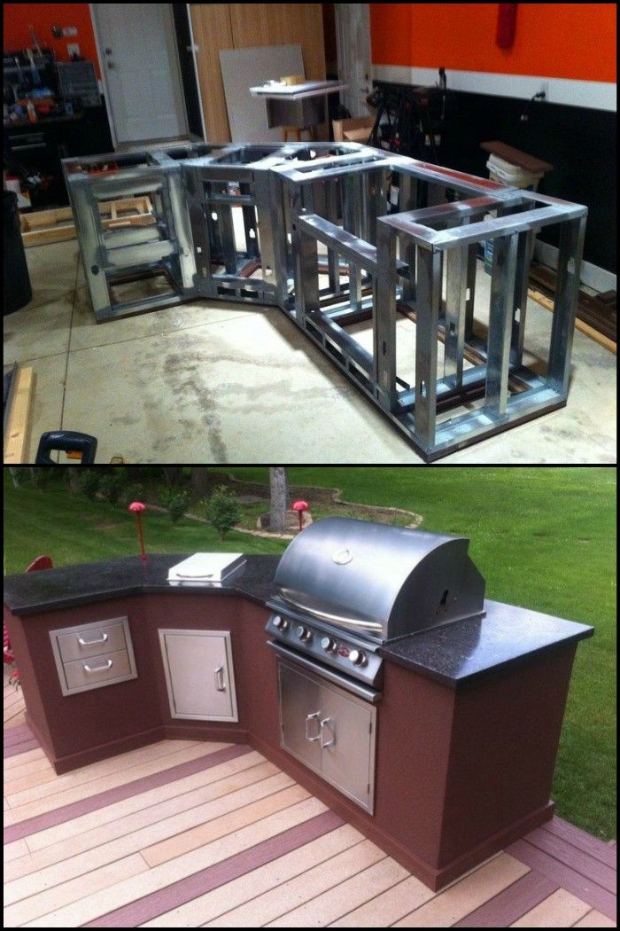 Diy Outdoor Kitchen  Banks Kitchens And Backyard Glamorous Build Your Own Outdoor Kitchen Design Inspiration