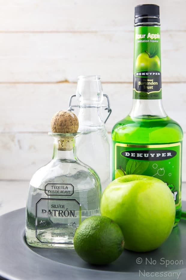 Tequila Sour Apple Cocktail - The Lucky Shamrock for St