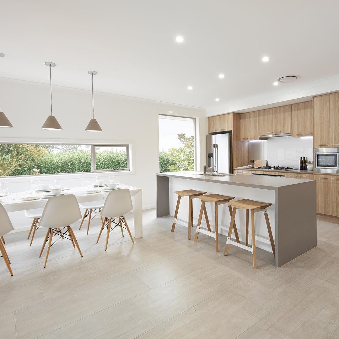 Idee Per La Cucina caesarstone sleek concrete, polytec natural oak (with images