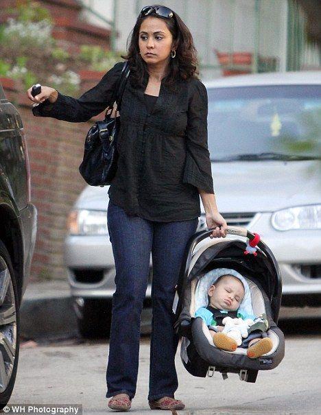 Proud ER actress Parminder Nagra shows off baby son Kai ...
