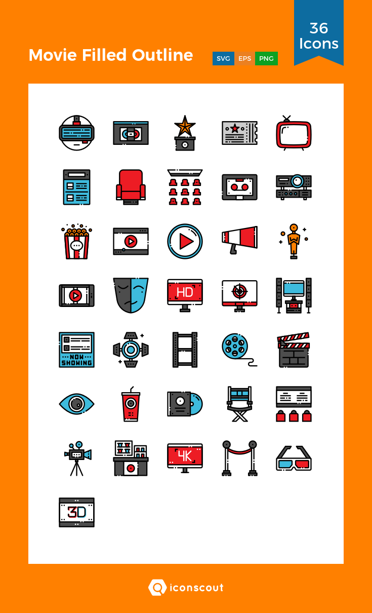 Download Download Movie Filled Outline Icon pack - Available in SVG ...