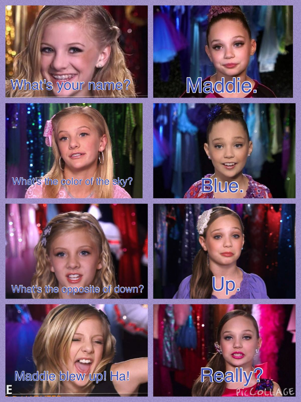 Just A Little Comic Of Maddie And Paige For U Guys To Enjoy Credit To Rileydougherty0 Dance Moms Funny Dance Moms Comics Dance Moms Memes