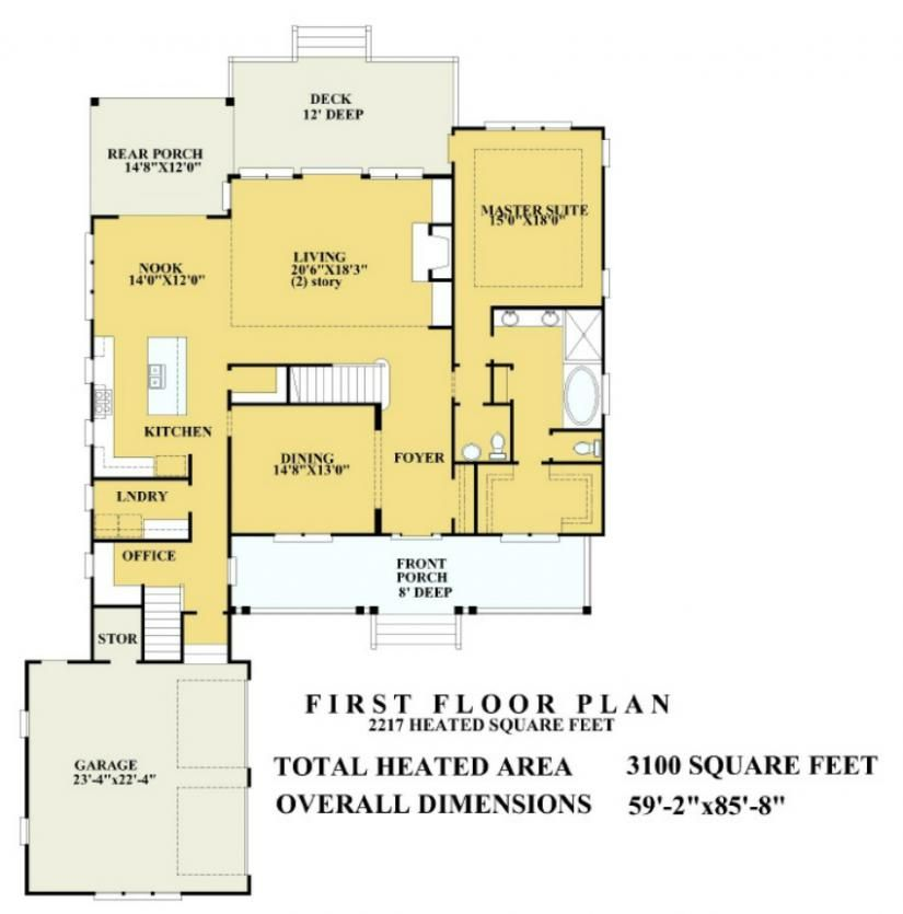 655997 - Beautiful 3 bedroom 2 bath plan with large front porch