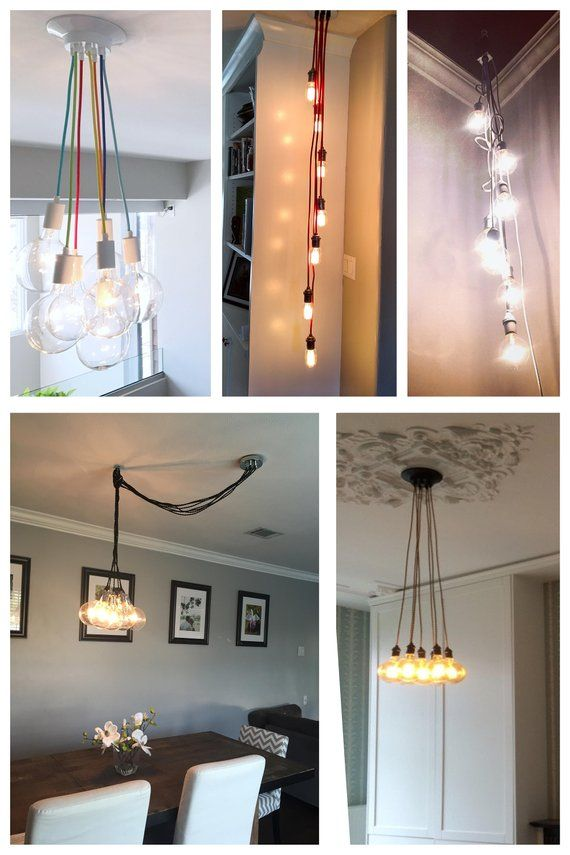 7 Pendant Light Cer Many Colors Any Length Multi Lighting Cloth Cord