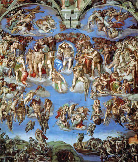 Michelangelo Buonarroti The Last Judgement Sistine