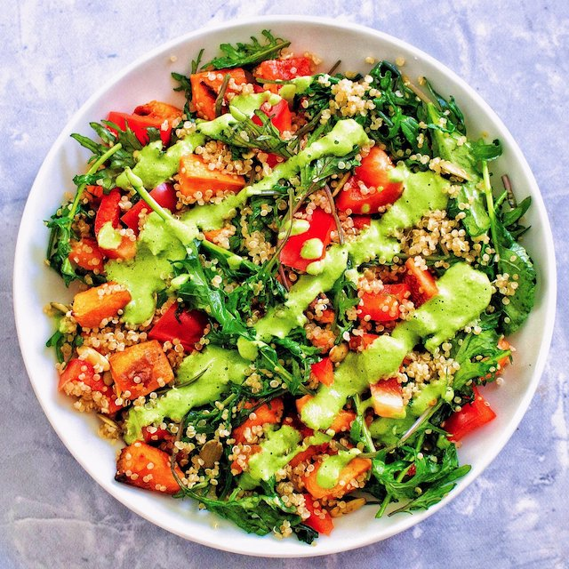 Quinoa Green Goddess Bowl From Forks Over Knives Meal