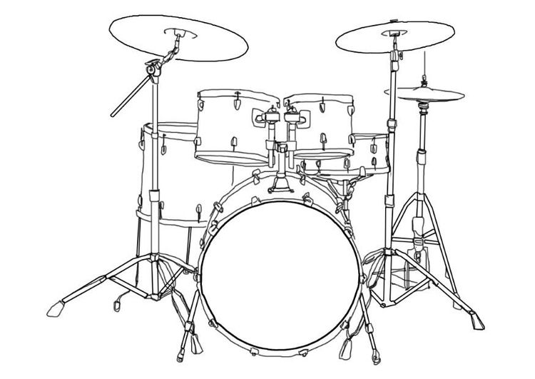 Coloring Page Drum Kit Img 7002 How To Play Drums Drum Kits