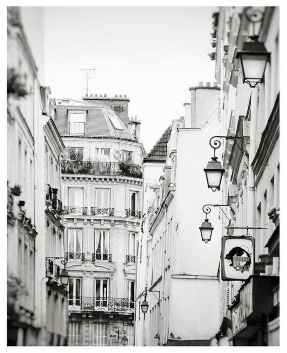 Paris Black And White Photography Architectural Print Paris Wall
