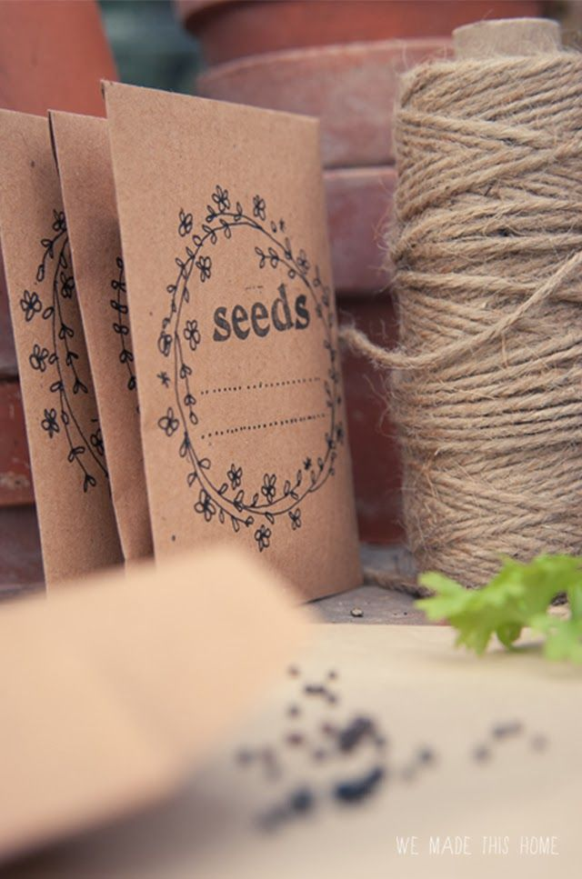 we made this home  diy seed packets