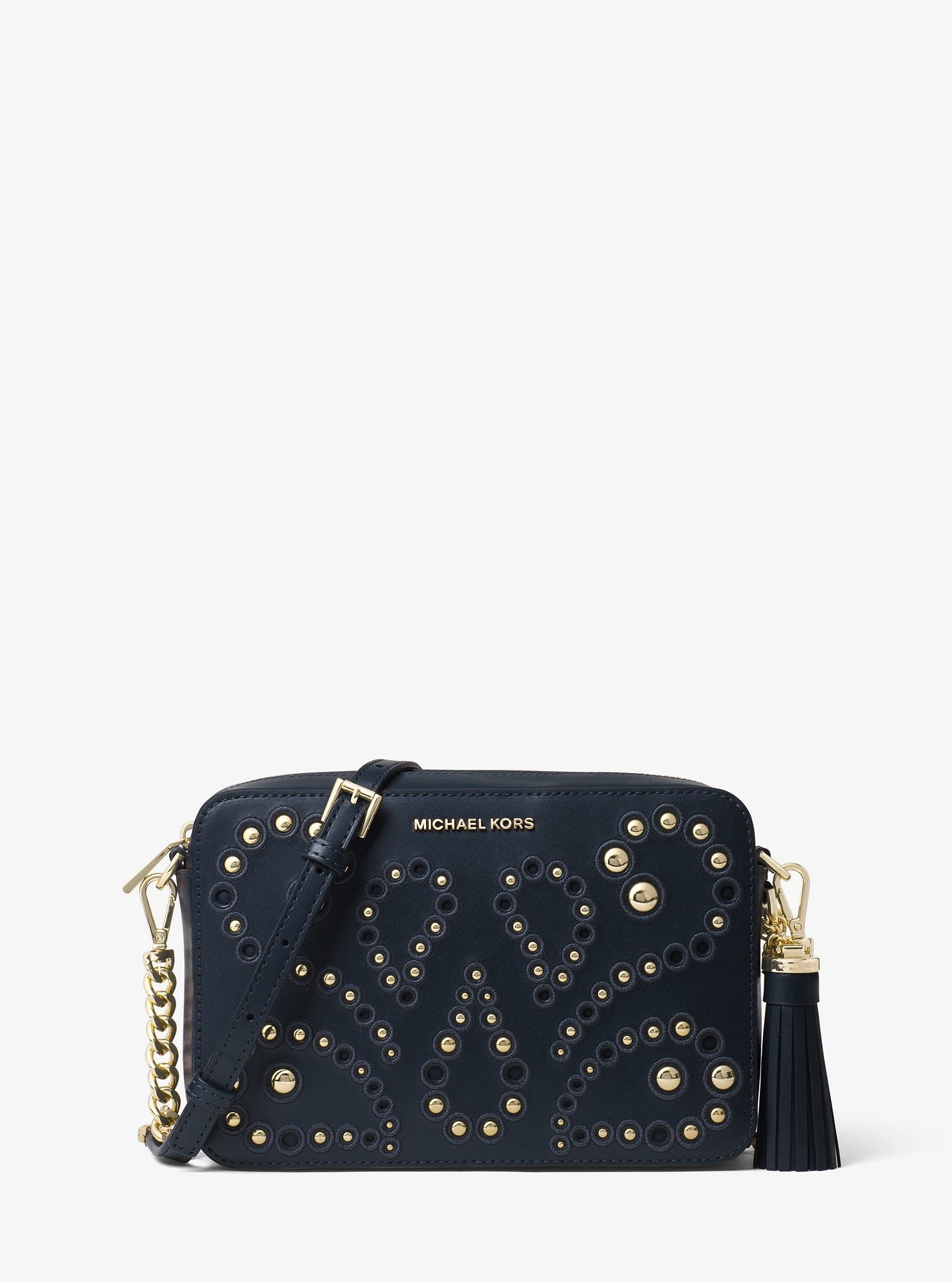 850d9a69dd91 Ginny Medium Embellished Leather Crossbody by Michael Kors in 2018 ...