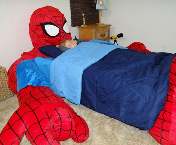 I\'d Never Get Out: Spider-Man Bed | Geek Stuff | Pinterest ...