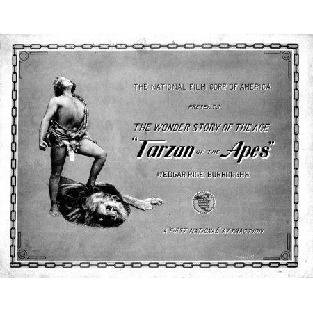 Tarzan Of The Apes Canvas Art - (28 x 22)