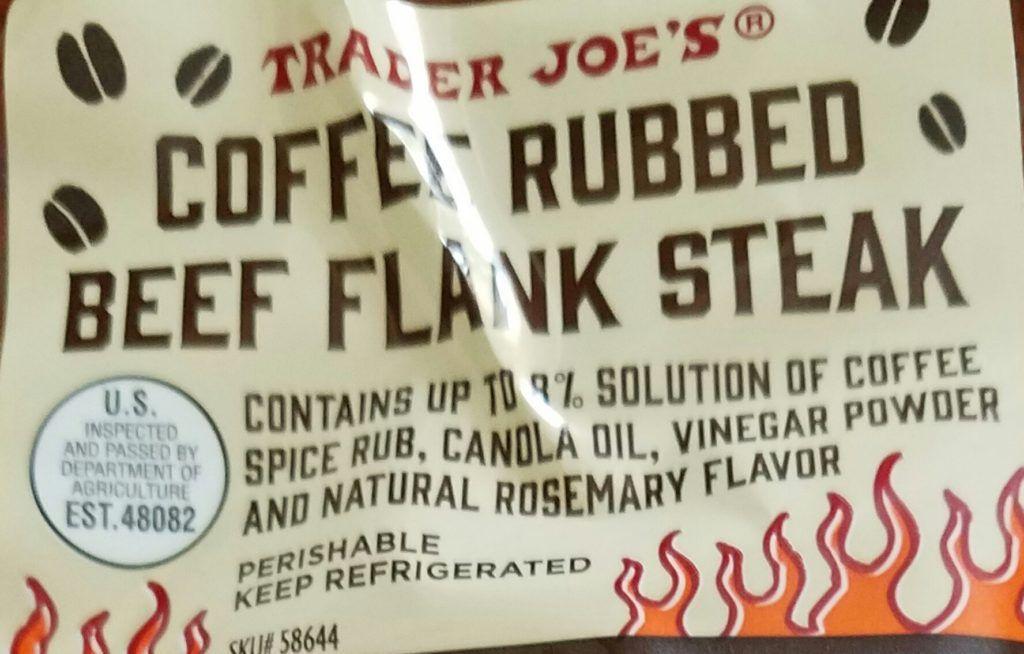 Trader Joe's Coffee Rubbed Flank Steak Joe coffee
