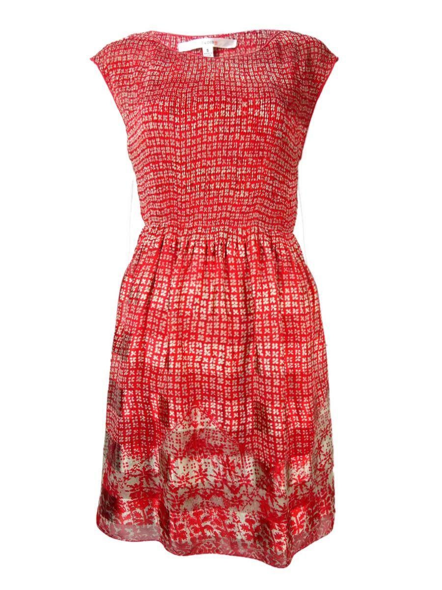 Studio M Women's Shirred Pleated Charmeuse Dress