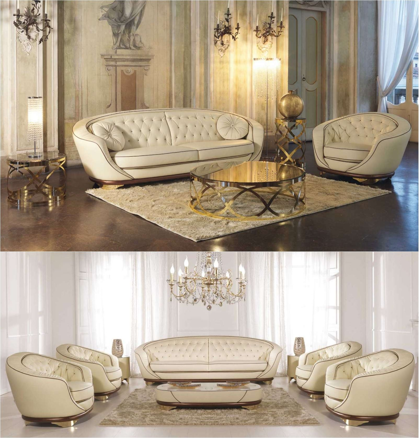 LUMIERE Collection SPACE sofa & armchairs by Formenti Divani