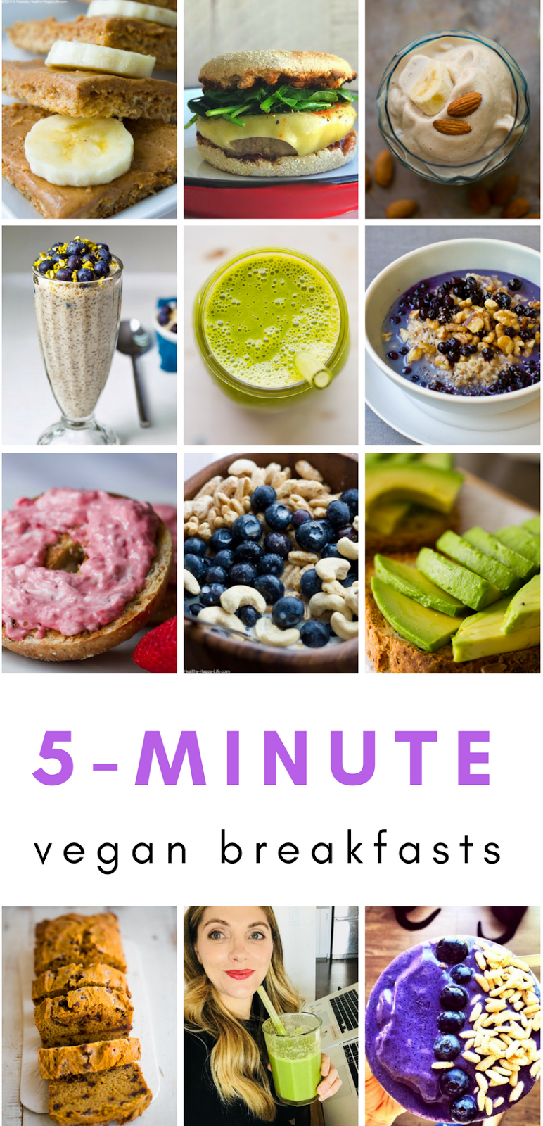 12 Five Minute Vegan Breakfasts With Images Plant Based Recipes Breakfast Breakfast Fast Vegan Breakfast