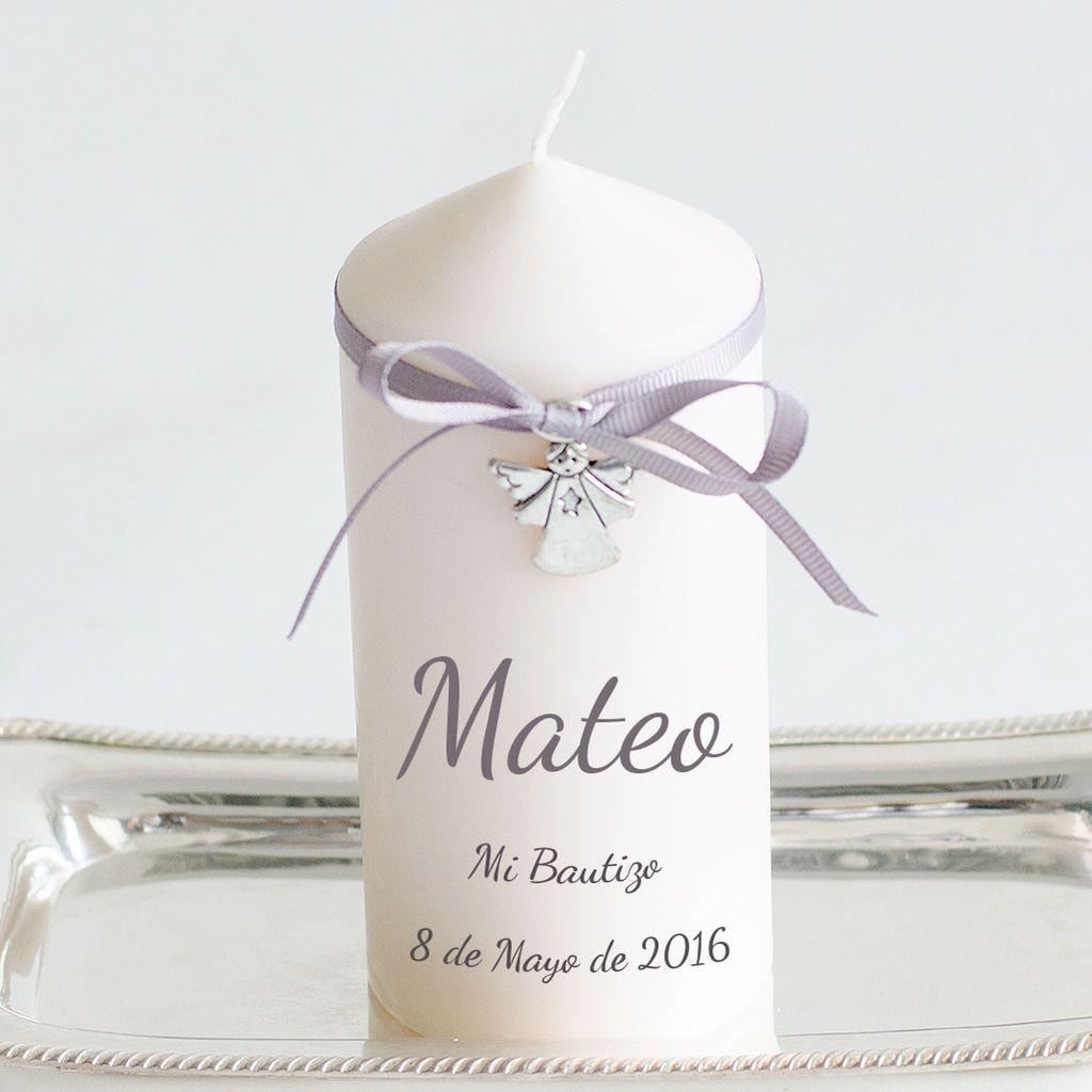 Regalos originales bautizo vela personalizada entrega en for Decoracion de velas para bautizo