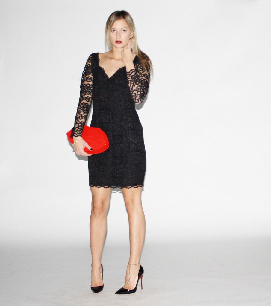 Vintage s black lace bodycon dress vanguard vintage clothing