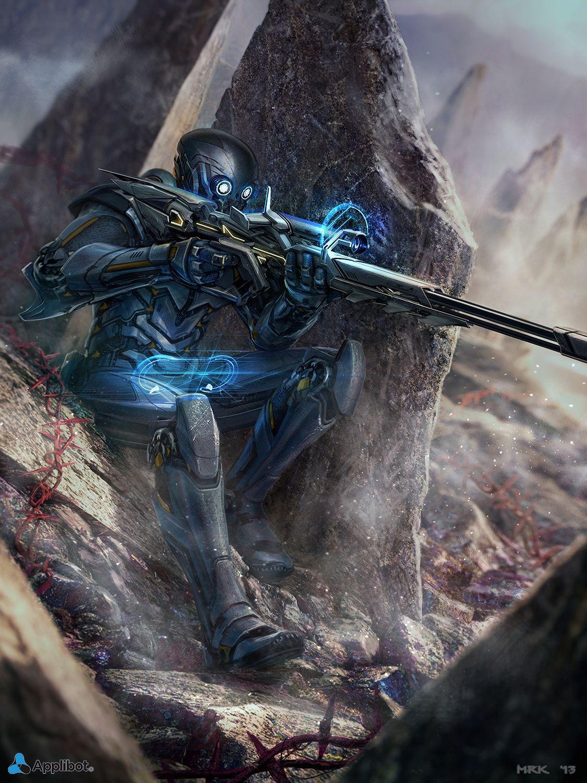 The Sniper | Bogdan-MRK at DeviantArt | Sci fi concept art, Cyberpunk art,  Sniper
