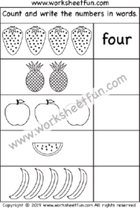 Number Word Worksheet – Numbers in Words – 1-10 – One ...