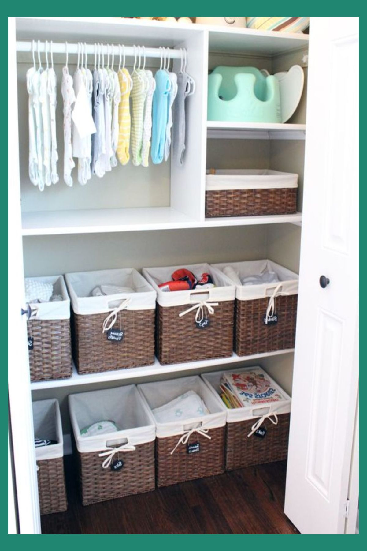 Nursery Closet Organization Ideas Baby Storage And For Room Nurseryclosetorganization Babyroomstorage Babynursery
