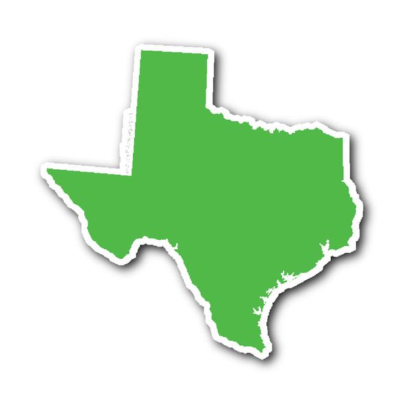 Texas State Shape Sticker Outline White Texas Stickers State Shapes Texas State