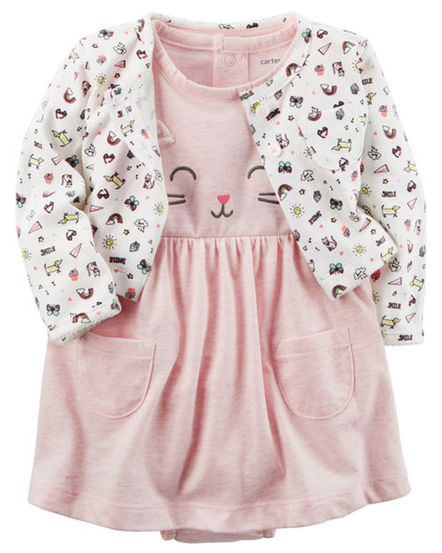 New Carter/'s Girls Kitty Cat 5 Pack Bodysuits Tops NWT PR NB 3 6m 9m 12m 18m 24m
