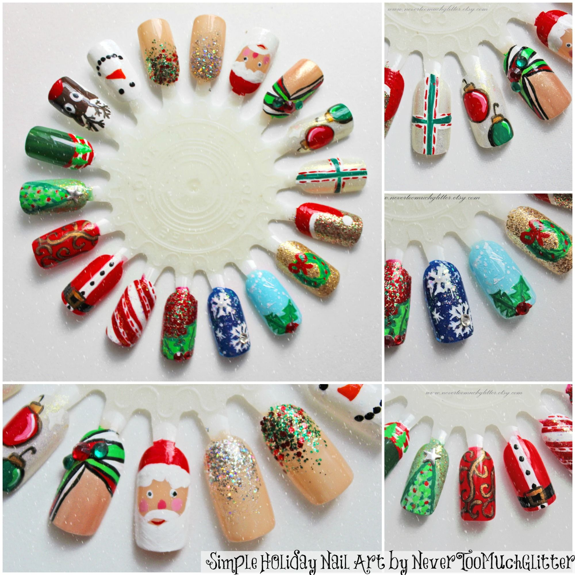 Easy Christmas Diy Nail Art Holiday Nail Art Nail Nail And