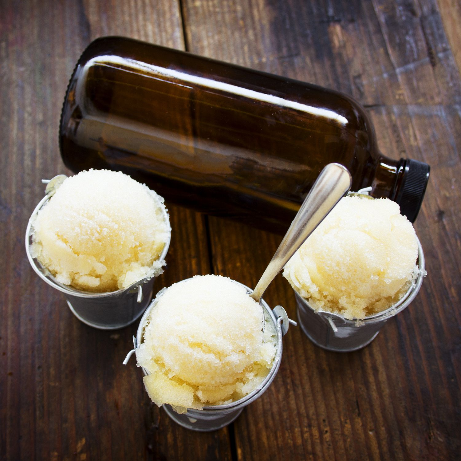 Looking for a late summer recipe? Try peach Kombucha sorbet! Simply pour the Kombucha into an ice-cream maker and watch the magic happen. The result will be a light and fresh sorbet that's perfect ...