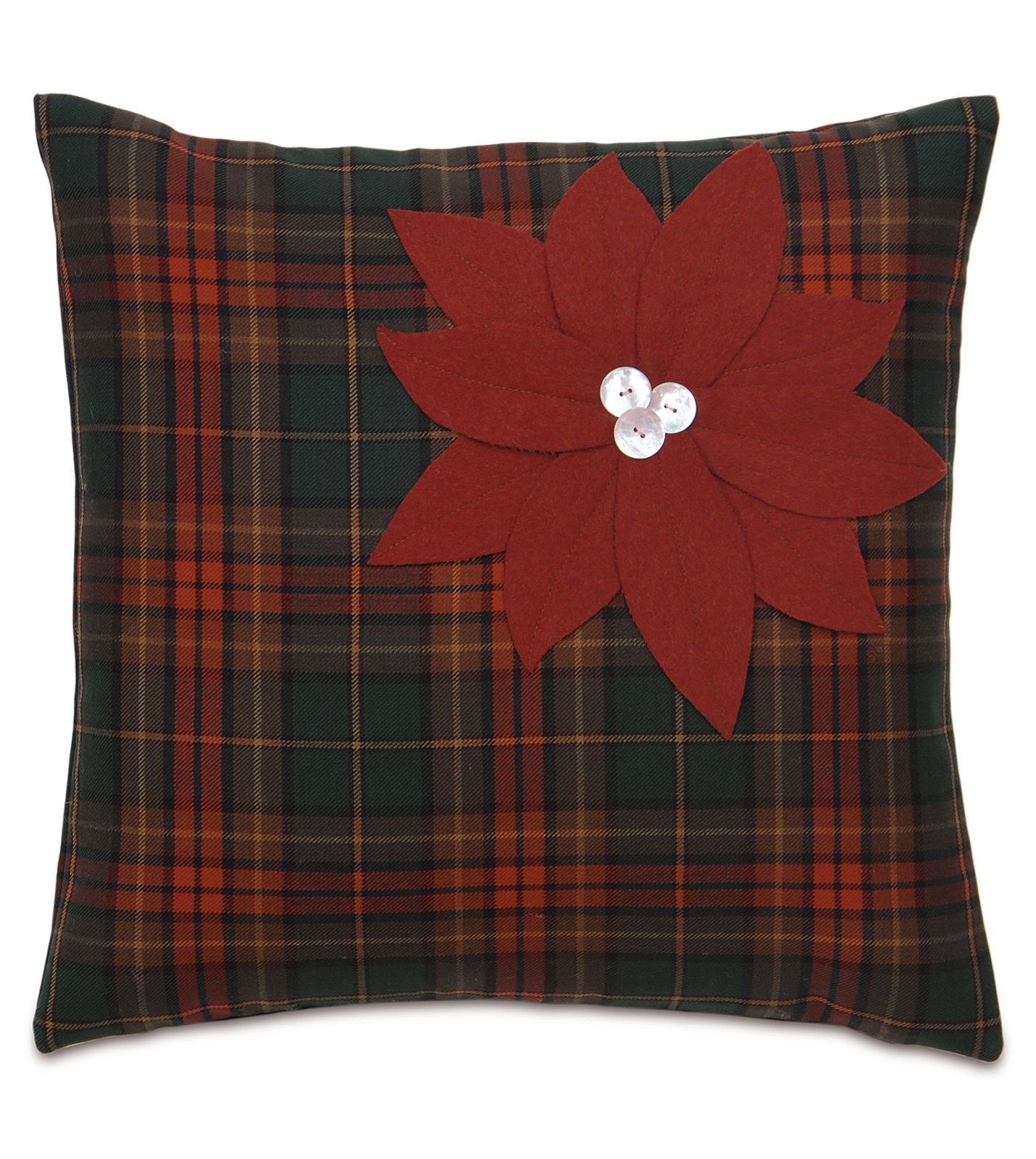 Eastern Accents Home For The Holidays Poinsettia Plaid Decorative Pillow Plaid Decorative Pillows Plaid Throw Pillows Holiday Pillows