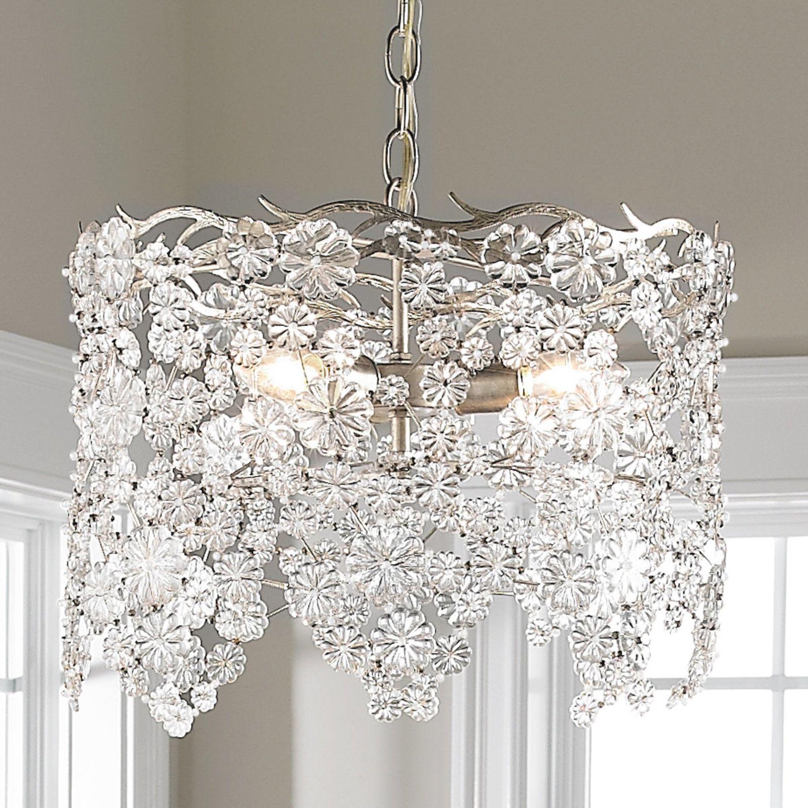 Glass Lace Drum Chandelier silver leaf Home Pinterest