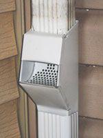 Photo Self Cleaning Downspout First Flush Debris Trap Downspout Downspout Diverter Rain Barrel