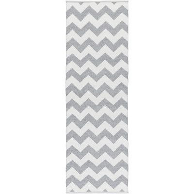 Surya Picnic Hand-Woven Medium Gray/White Outdoor Area Rug Rug size: