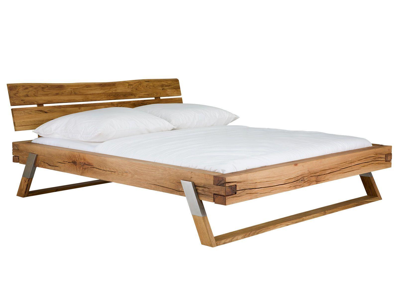 Bett Malta 140x200 Bett Eiche Massiv Holzbett