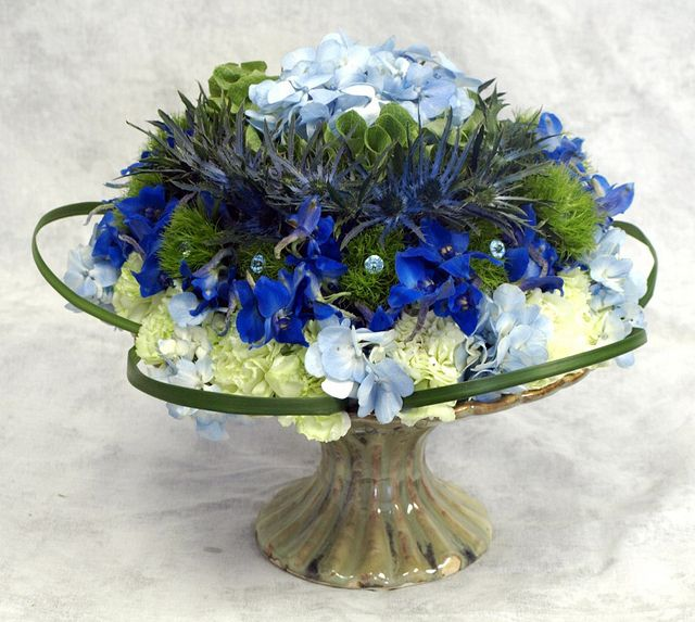 Blue and Green Arrangement by Flower Factor, via Flickr