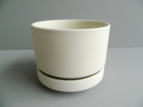 arabia finland large white ceramic planter by richard lindh - Large Ceramic Planters