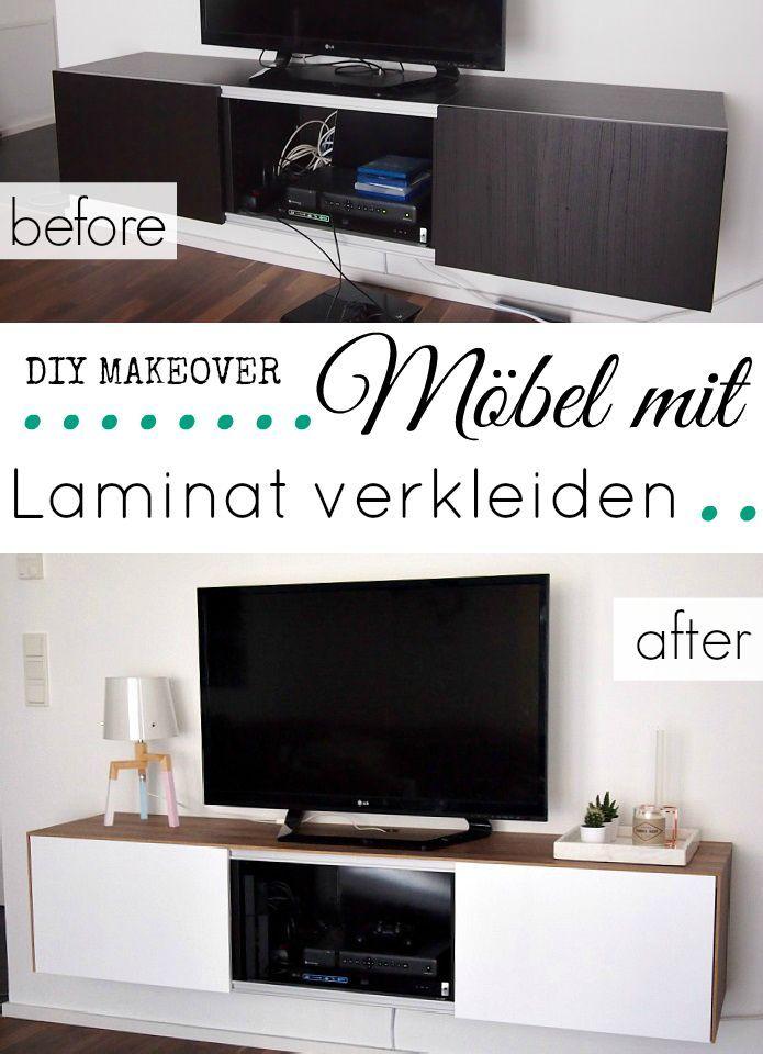 Möbel mit Laminat verkleiden Wohnwand Pinterest etwas Neues - wohnzimmerschrank zu verschenken