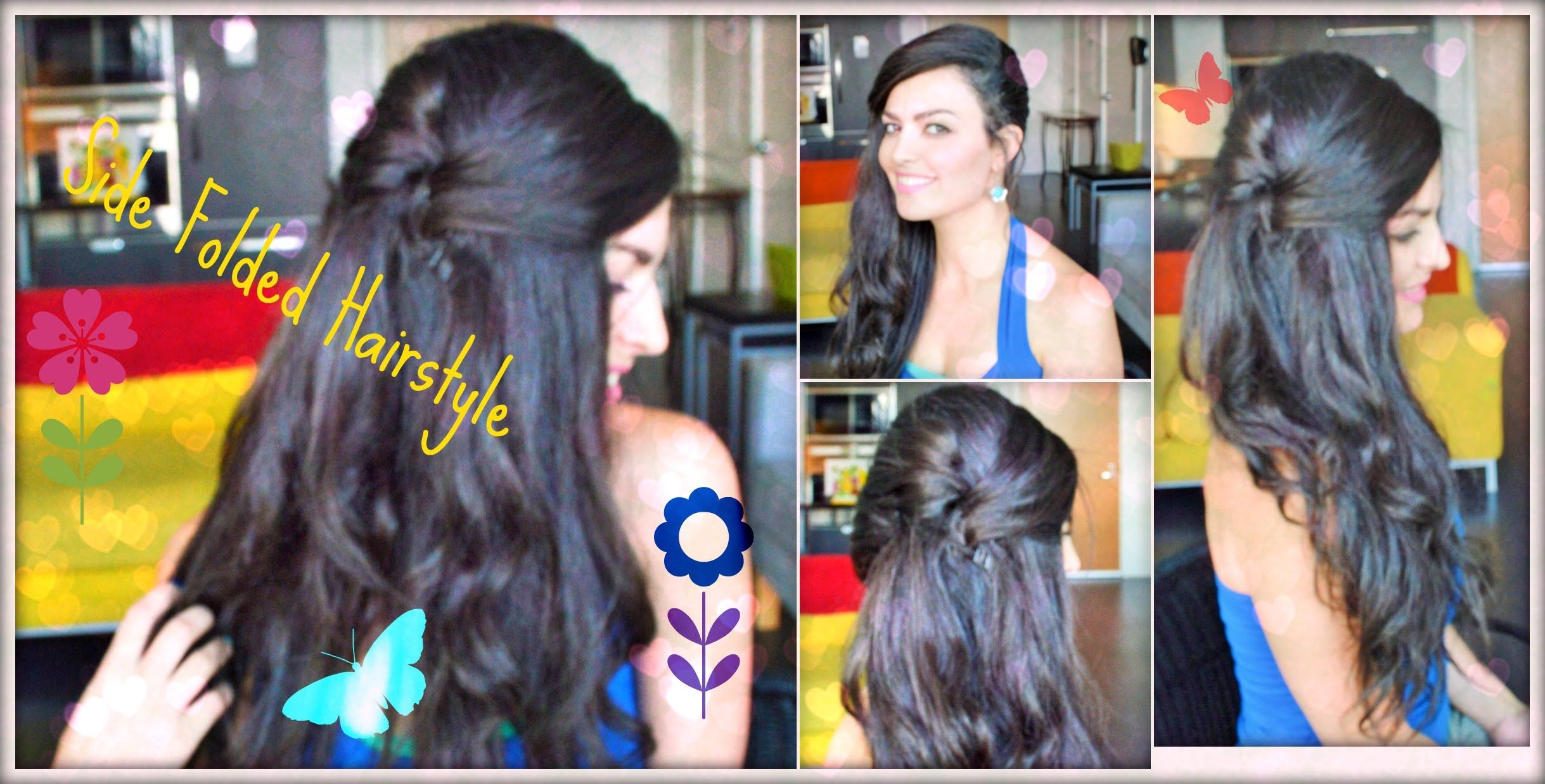 easy quick side folded party/casual hairstyle for long