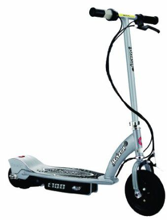 Razor E100 Electric Scooter Silver Amazon Co Uk Sports