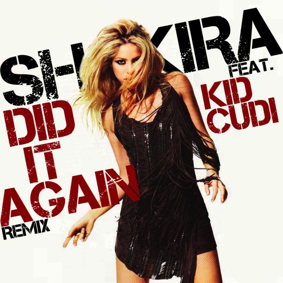 Shakira, Kid Cudi – Did It Again (single cover art)