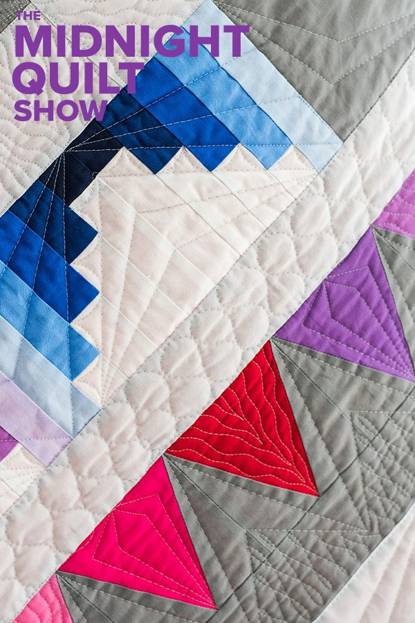 A rainbow quilt, a star quilt and a medallion quilt all in one you ...