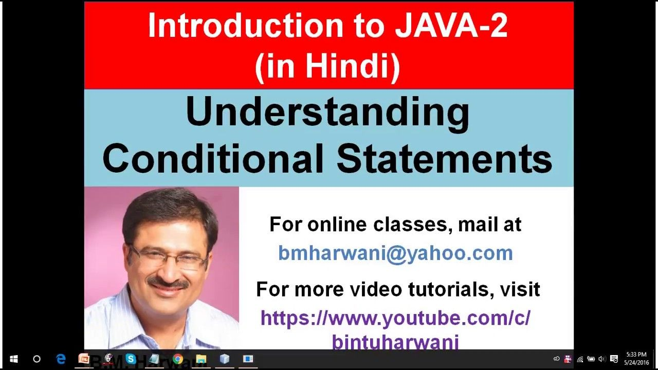 Java Lecture 2 - Understanding Conditional Statements (Hindi