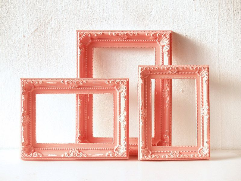 Coral Pink Frame Set (3 Pieces)- Ready to Ship | Coral pink, Laundry ...