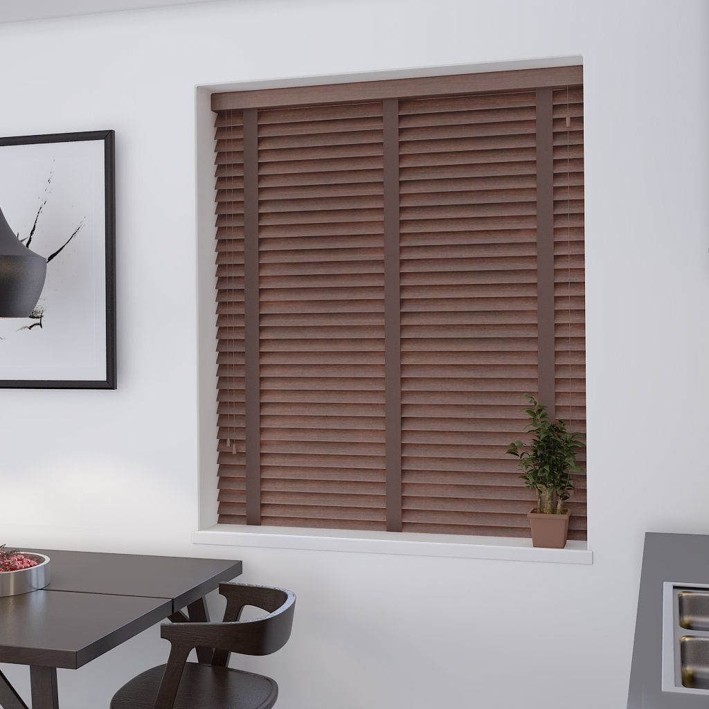 Real wood auburn venetian blind made to measure from make my
