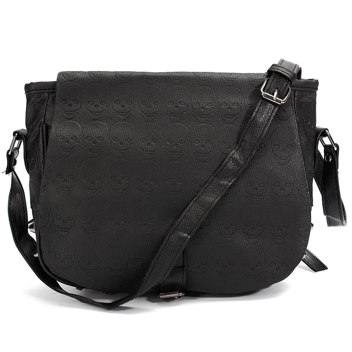 Black Women Shoulder Crossbody Bags Skull Leather Lady Handbags Retro  Vintage Style Girls Small Messenger Sling Bag Rivet Bolsa  Happy4Sales   kids  bagshop ... 49f9ceb8e8b9a