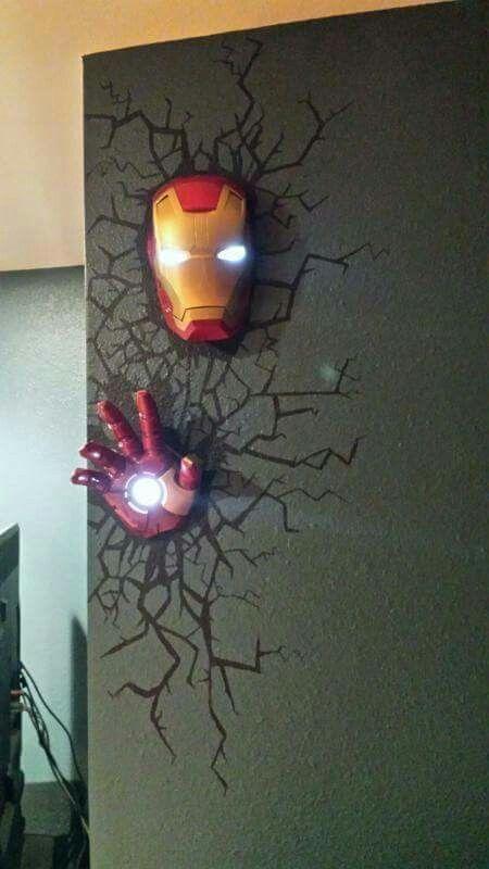 Iron Man Lamp Superhero Room Game Room Decor Avengers Room