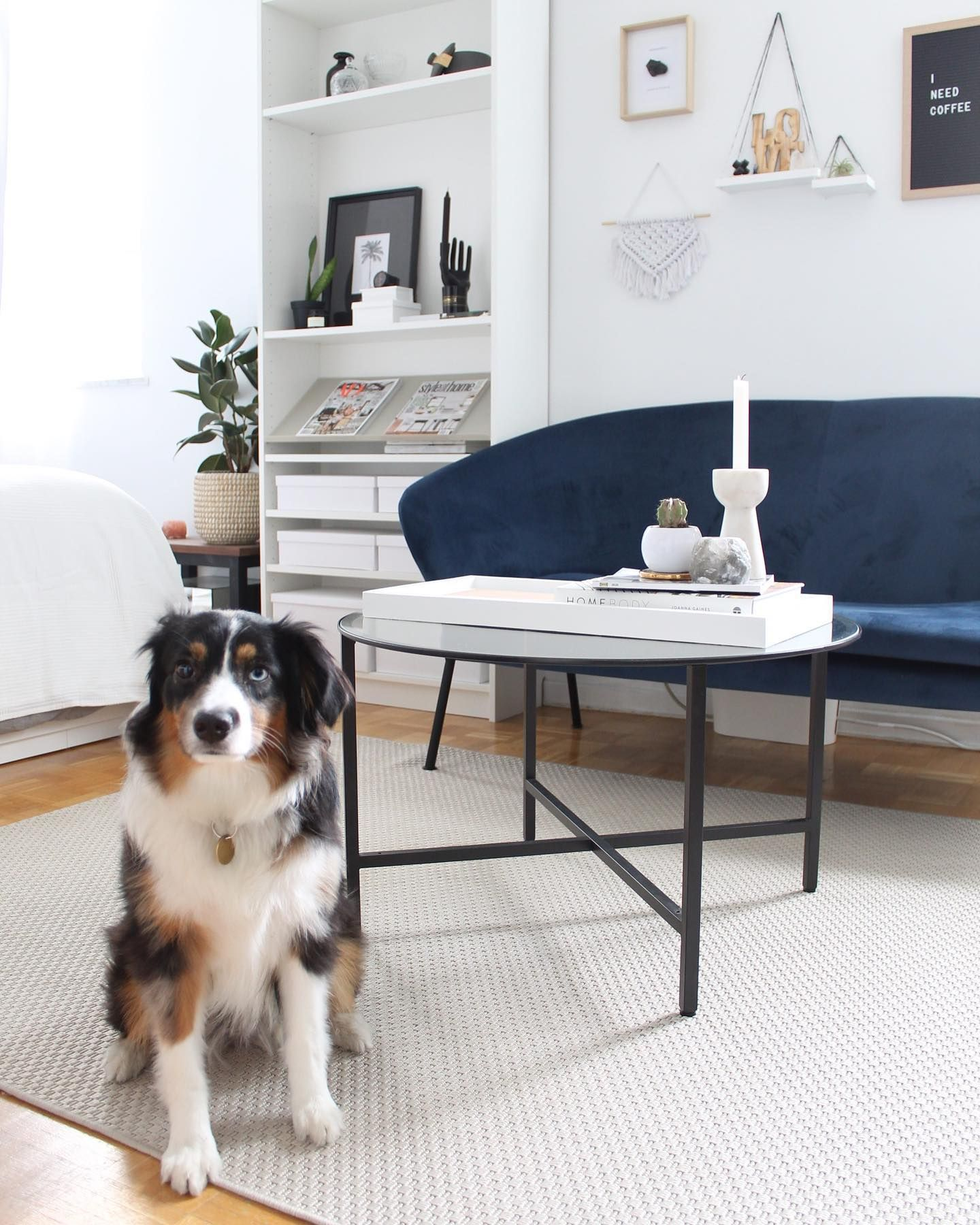 The Easiest Ikea Hack Removing The Bottom Shelf Of The Ikea Vittsjo Coffee Table Makes It Look And Feel Airy And Bright Perfect For A Small Space Our [ 1800 x 1440 Pixel ]