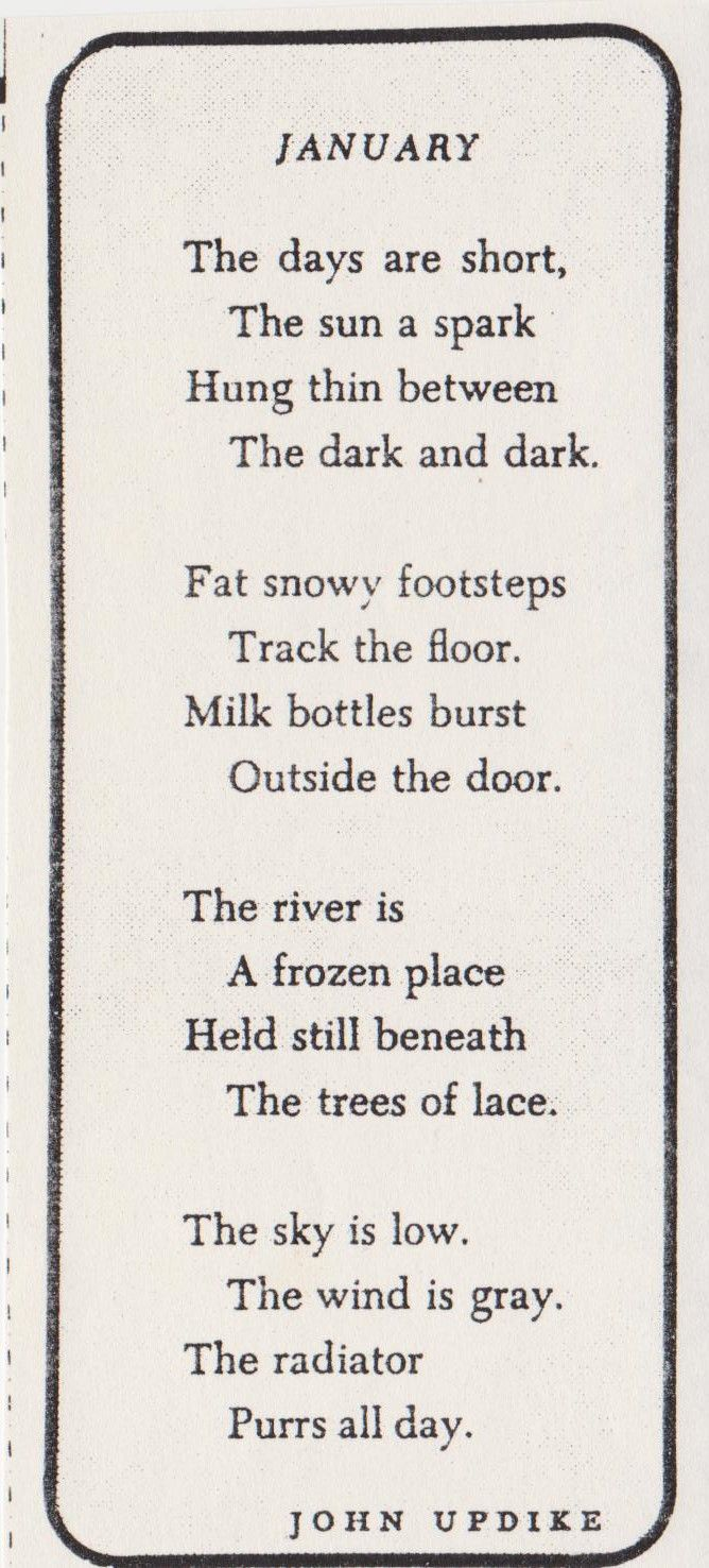 John Updike Poems 5